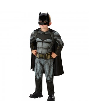 Boys Deluxe Batman Dawn of Justice Costume Front View at Fancy Dress and Party