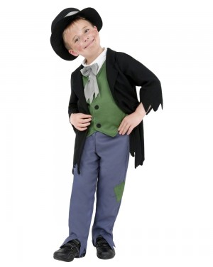 fdad9321419 Boys Dodgy Victorian Costume Front at Fancy Dress and Party ...