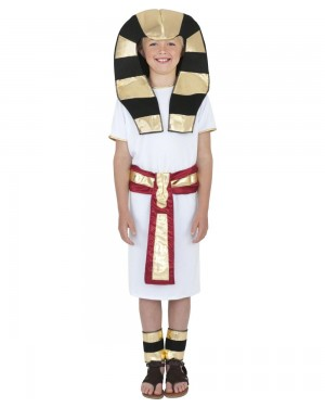 Boys Egyptian Pharaoh Costume Front at Fancy Dress and Party