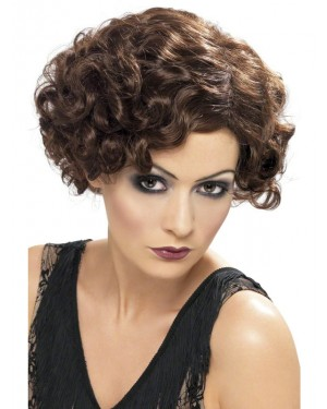Brown 20s Wig at Fancy Dress and Party