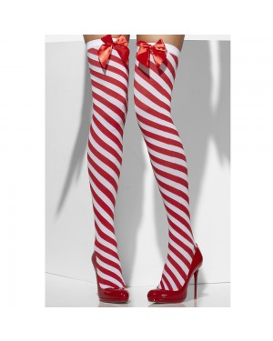 Candy Stripe Hold Ups at Fancy Dress and Party