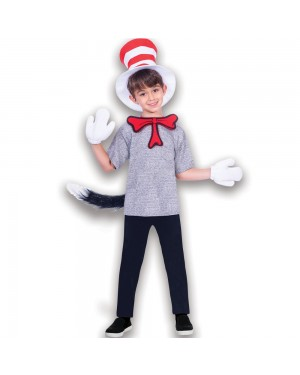 Cat in the Hat Accessory Kit Child Size Boys View at Fancy Dress and Party