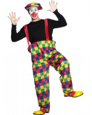 Clown Outfit Front View at Fancy Dress and Party