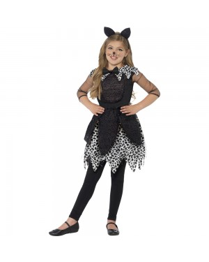 Deluxe Midnight Cat Costume Front View at Fancy Dress and Party
