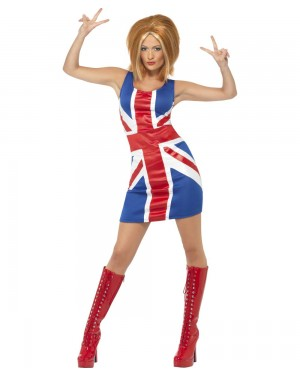 Ginger Spice Costume Front at Fancy Dress and Party