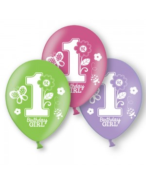 Girls 1st Birthday Balloons at Fancy Dress and Party