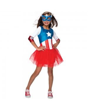 Girls American Dream Costume at Fancy Dress and Party