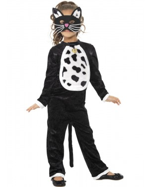 Girls Cat Costume at Fancy Dress and Party