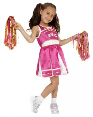 Girls Cheerleader Costume Front at Fancy Dress and Party