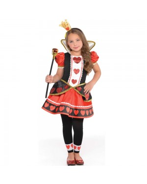 Girls Queen of Hearts Costume at Fancy Dress and Party