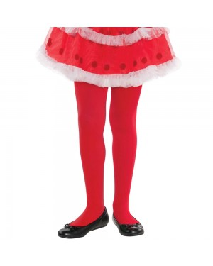 Girls Red Tights at Fancy Dress and Party