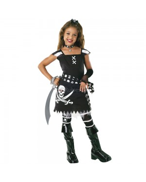 Girls Scar-Let Pirate Costume at Fancy Dress and Party