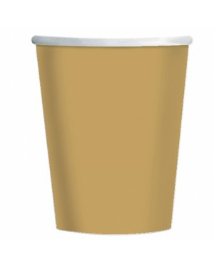 Gold Paper Cups at Fancy Dress and Party