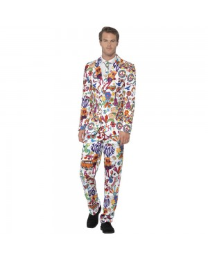 Groovy Stand Out Suit Front View at Fancy Dress and Party