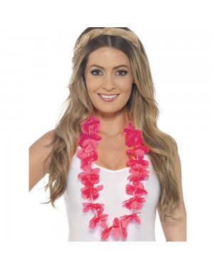 Hawaiian Neon Pink Lei at Fancy Dress and Party