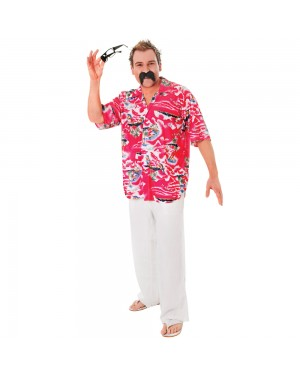 Hawaiian Shirt Front View at Fancy Dress and Party