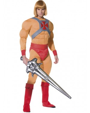 He Man Costume Front View at Fancy Dress and Party