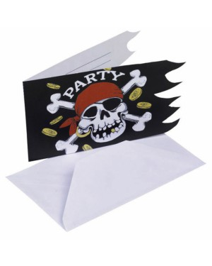 Jolly Roger Pirate Invites at Fancy Dress and Party