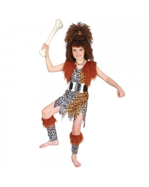 Kids Cave Girl Costume at Fancy Dress and Party