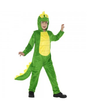 Kids Crocodile Costume Front View at Fancy Dress and Party