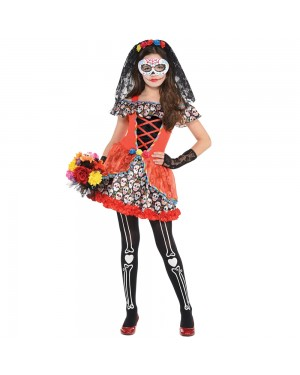 Kids Day of the Dead Costume at Fancy Dress and Party