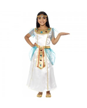 Kids Deluxe Cleopatra Costume Front View at Fancy Dress and Party