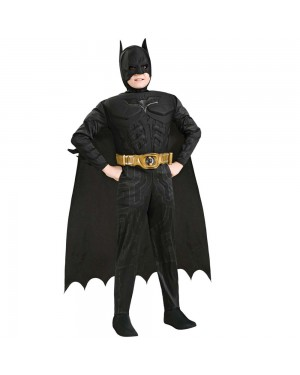 Kids Deluxe Dark Knight Costume at Fancy Dress and Party