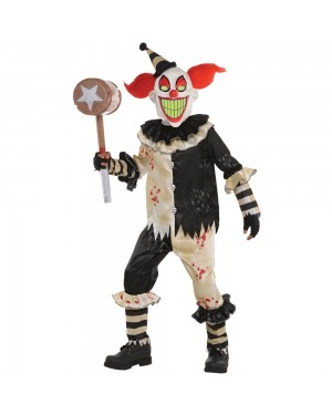 Kids Evil Clown Costume at Fancy Dress and Party