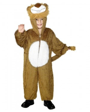 Kids Lion Costume Front at Fancy Dress and Party