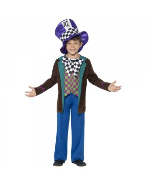 Kids Mad Hatter Costume Front View at Fancy Dress and Party