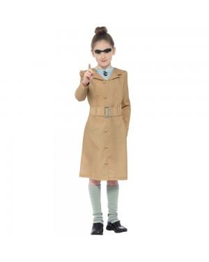 Kids Roald Dahl Miss Trunchbull Costume Front View at Fancy Dress and Party