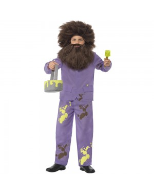 Kids Roald Dahl Mr Twit Costume Front View at Fancy Dress and Party