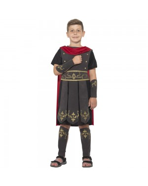 Kids Roman Soldier Costume Front View at Fancy Dress and Party