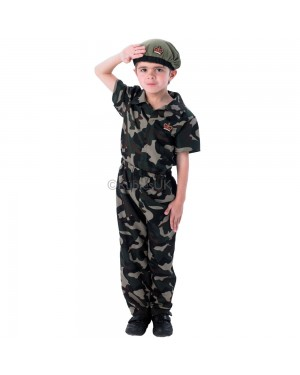 Kids Soldier Boy Costume at Fancy Dress and Party