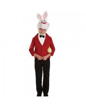 Kids White Rabbit Costume at Fancy Dress and Party