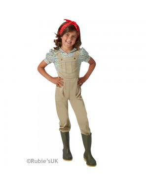 Kids WW2 Land Girl Costume at Fancy Dress and Party