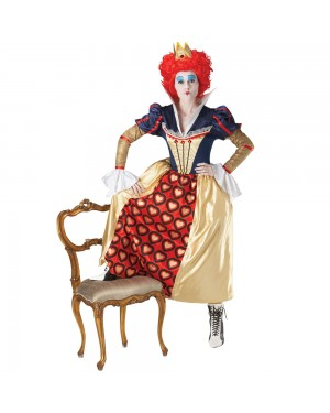 Ladies Red Queen Costume at Fancy Dress and Party