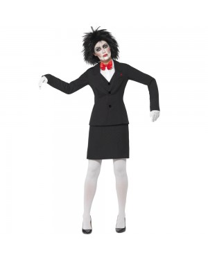 Ladies Saw Jigsaw Costume Front View at Fancy Dress and Party