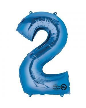 Large Blue Number 2 Foil Balloon at Fancy Dress and Party