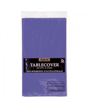 Large Plastic Purple Tablecloth at Fancy Dress and Party