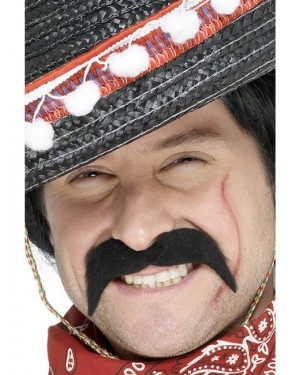 Mexican Bandit Moustache at Fancy Dress and Party