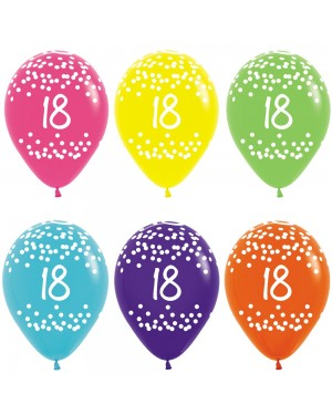 Multi Coloured 18th Birthday Balloons at Fancy Dress and Party