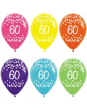 Multi Coloured 60th Birthday Balloons at Fancy Dress and Party