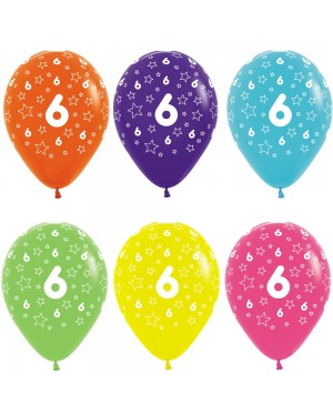 Multi Coloured 6th Birthday Balloons at Fancy Dress and Party