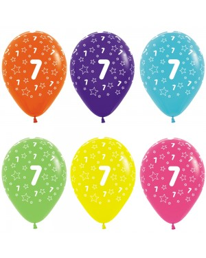 Multi Coloured 7th Birthday Balloons at Fancy Dress and Party