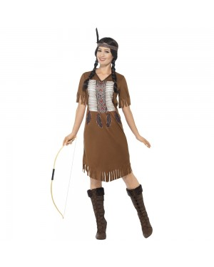 Native American Princess Front View at Fancy Dress and Party