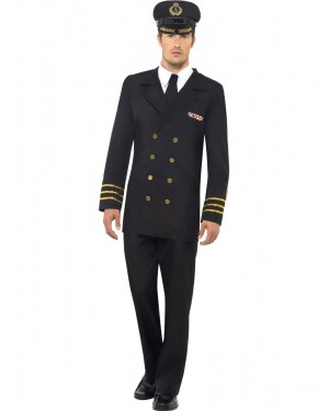 Navy Officer Costume Front View at Fancy Dress and Party