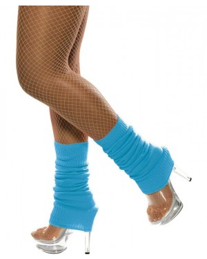 Neon Blue Legwarmers at Fancy Dress and Party