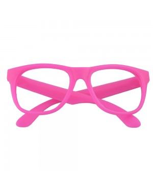 Neon Pink Geek Glasses at Fancy Dress and Party