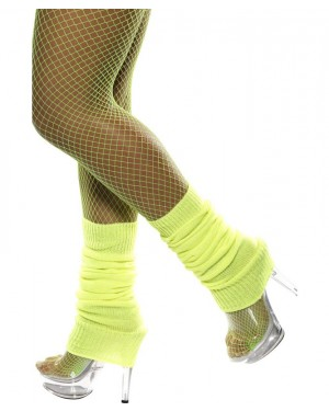 Neon Yellow Legwarmers at Fancy Dress and Party